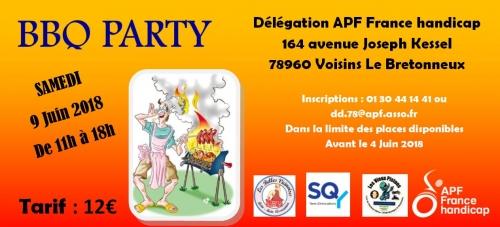 Barbecue APF France handicap Yvelines 9 juin 2018 11 h à 18 h
