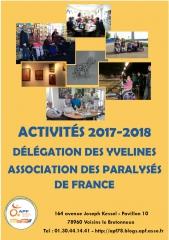 activités, APF, 2017-2018