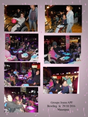 sortie,bowling,groupe,jeune
